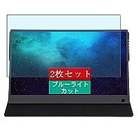 2枚 Sukix ブルーライトカット フィルム 、 ZiMai B15FHD 15.6 Inch ディスプレイ モニター 向けの 液晶保護フィルム ブルーライトカットフィルム シート シール 保護フィルム(非 ガラスフィルム 強化ガラス ガラス )