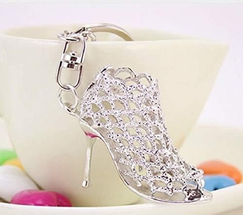 Familienkalender High Heel Hakenschuh Schlüsselanhänger silberfarben | Geschenk für Damen | Frauen | Schuh | Shoe |