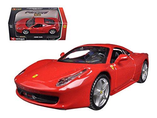 Bburago - 44016 - Véhicule Miniature - Modèle À L'échelle - Ferrari 458 Alitalia - Echelle 1/32