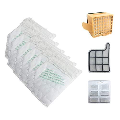 Cuasting Juego de filtros para bolsas de polvo para aspiradora Vorwerk VK135 VK136 369