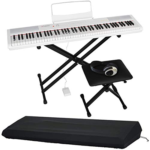 Artesia アルテシア デジタルピアノ (電子ピアノ) セット 88鍵 PERFORMER/WH ホワイト (サスティンペダル/スタンド[BK]/椅子[BK]/ヘッドフォン付属) + GATOR製ピアノカバー付き