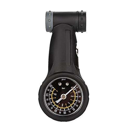 DAUERHAFT Manómetro de presión de Aire de Bicicleta de 118 g Adecuado para válvulas Tipo Presta y Schrader