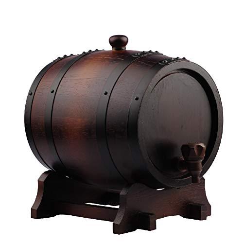 YILIAN Jiutong Barriles de Roble de 15L Que elaboran Equipos barriles de Roble auténticos sin horneado de la vesícula biliar del contenedor de UVA elaborado Barriles de Vino (Tamaño : 15L)