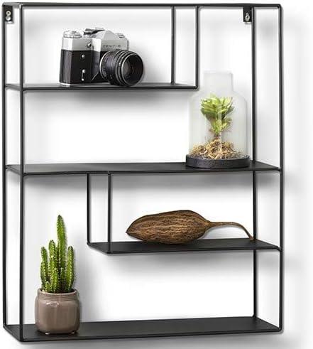 971 opinioni per LIFA LIVING Mensola da Muro in Metallo Nero, Mensola da Muro Design, Mensola da