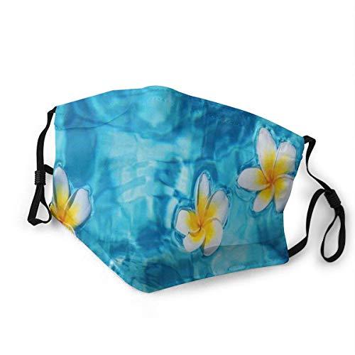 Moda cómoda a prueba de viento tropical Frangipani flor flotante en la piscina de agua verano ecológico, impreso decoraciones faciales para niños S