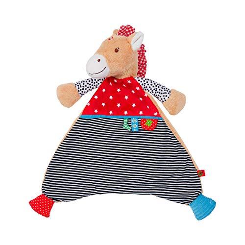 COPPENRATH DIE SPIEGELBURG Doudou Petit cheval doudou, brun/rouge/bleu