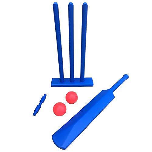 Juego de Cricket Kwik, Juegos de Cricket, Micro – Juegos, diversión, al Aire Libre, tocón, Kwik, Bate de Cricket de 24 Pulgadas, Azul, plástico de Alta Resistencia, Infantil, Azul, Mini