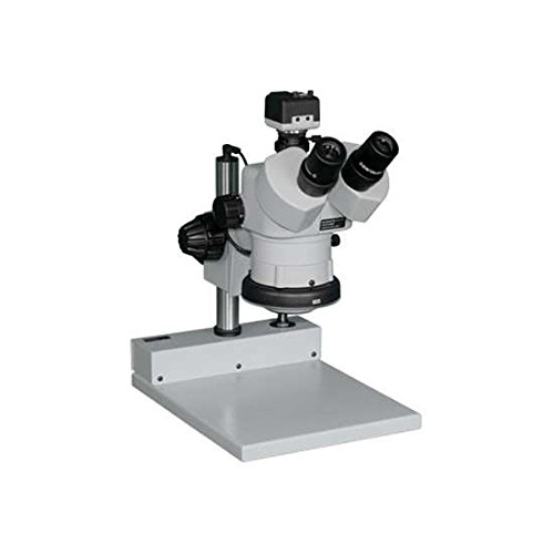 Aven 26800B-323 DSZV-44 Stereo Zoom Trinocular Microscope On Stand PLED With USB Color Camera