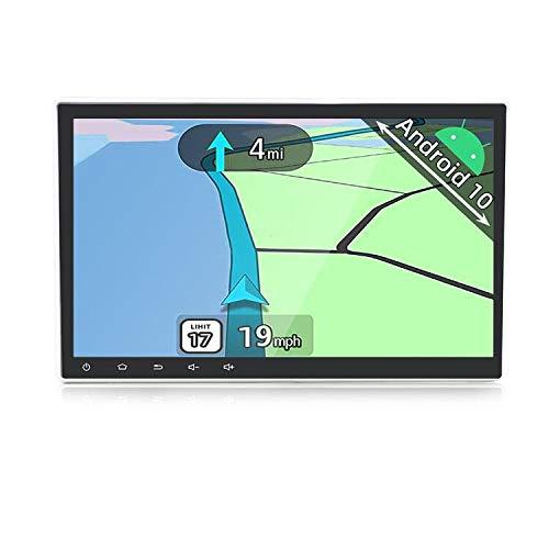 YUNTX Android 10 Doppio Din Autoradio - Touchscreen regolabile da 10,1 pollici - GPS 2 Din - Telecamera Posteriore Gratuiti - Supporto DAB/Controllo del volante/4G/WiFi/BT 5.0/Mirrorlink/Carplay / USB