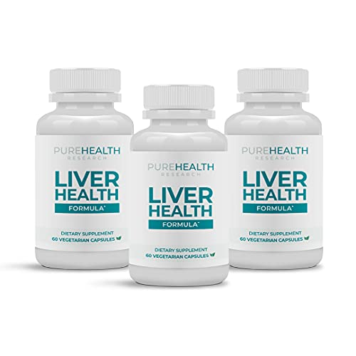 Liver Health Superstar by Purehealth Research -Impressive for Liver Markers, Oxidative Stress & Metabolic Functions. Fights Free Radicals, Dampens Immunity Markers, & Boosts Detox Flush, 3 Bottles