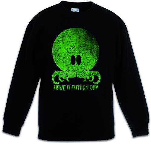 Urban Backwoods Cthulhu Have A Fhtagn Day Kinderen Jongens Meisjes Sweatshirt Pullover Trui