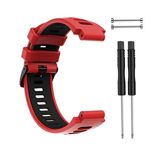LXF JIAJU Nueva Pulsera Al Aire Libre para Garmin Forerunner 735XT 220 230 235 620 630 Smart Watch Soft Silicone Strap Reemplazo De La Banda De Reloj (Color : Rose Pink)