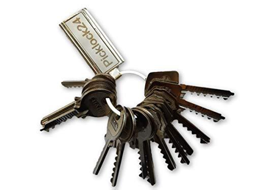 Picklock24. Juego de llaves maestras bumping de serreta válidas para cerraduras de España nº 2 (14 llaves)