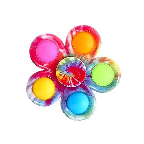 Kine Fidget Spinner Push y Pop Bubble it Sensory Fidget Toys, juguete antiestrés, pinzas sensoriales de burbuja para la dieta, simple Dimple Hand Spinners (#3)