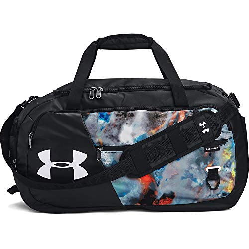 Under Armour Adult Undeniable Duffle 4.0 Gym Bag , Black (011)/White , Medium