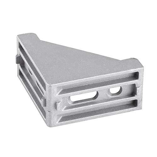 5-teilige L-förmige Eckhalterung aus Aluminiumlegierung 58x58 mm Eckhalterung Rechteckige Halterung Montage rechtwinklige Türverbindungen, Fenster,