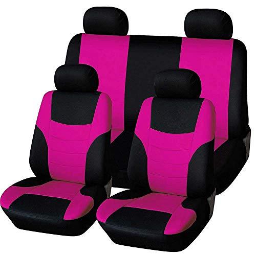 XLST Niversal Auto Schonbezug Komplettset Sitzbezüge für Auto mit Auto-Zubehör Innenraum Sitzschone,Pink