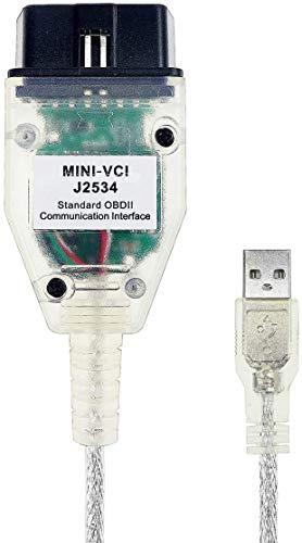 ULTRAOBD2 Auto-Diagnosekabel und Software, Scanner-Werkzeug mit USB-Schnittstelle für Toyota, Mini-VCI-OBD/OBD2-Diagnosegerät