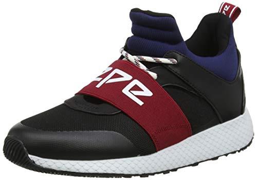 Pepe Jeans London Damen KOKO Archi Hohe Sneaker, Schwarz (Black 999), 38 EU