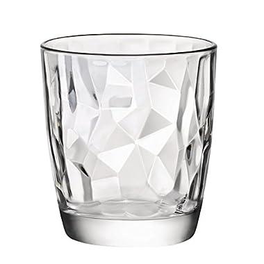 Bormioli Rocco Diamond  13.25 oz. Double Old Fashioned Glass, Set of 4