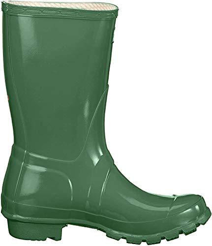 HUNTER Hunters–Original Short Gloss Gummistiefel, Unisex, grün - Verde(Greens) - Größe: 42 EU