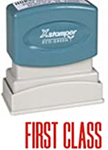 XSTAMPER POSTAL STAMP - Perfect For Your Business/Office/Carrier Mail And Package Needs - Self-Inking Stamps Designed To Save You Time And Money FIRST CLASS RED Ink Also Available In 10 Other Colors