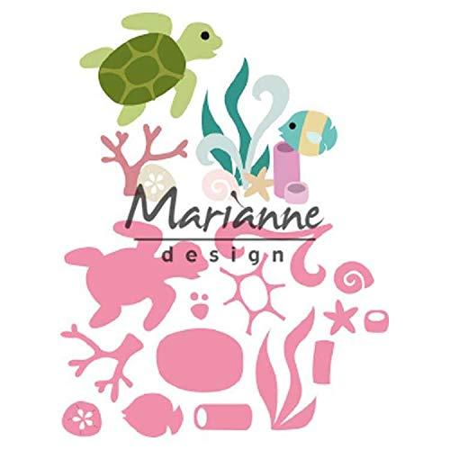 Marianne Design Collectables Fustelle, Vita Marina, Estate Indiana, per Taglio e Goffratura di Disegni Comples, Metallo, Rosa, small