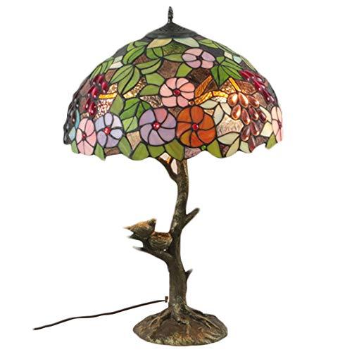 Dajie Tiffany Tischlampe, Retro Tischlampe, Blumenmuster Tischlampe, Harz Lampenkörper, Geeignet Für Wohnzimmer Schlafzimmer Arbeitszimmer