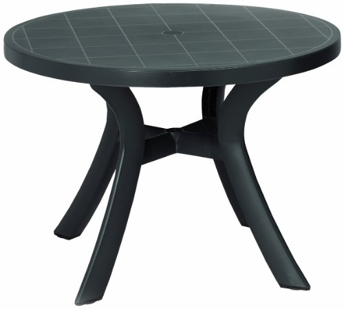 BEST 18511050 Tisch Kansas rund, Durchmesser 100 cm, anthrazit