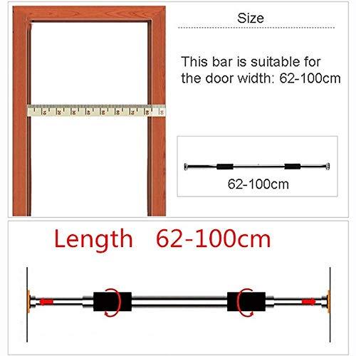 Zhihao Klimmzugbügel Stand Heim Tür Übung Trainingsgeräte Trainings Einstellbare Pull Up Klimmzugstange (Color : Clear)