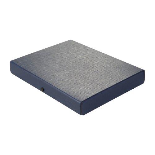 ELBA 400001922 Dokumenten-Box aus Hartpappe mit 3 Einschlagklappen und Druckkopf 4 cm blau