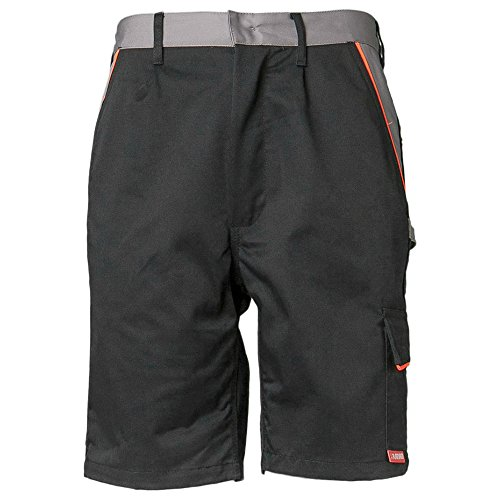 Planam Visline pantalones cortos para hombre negro/naranja, negro