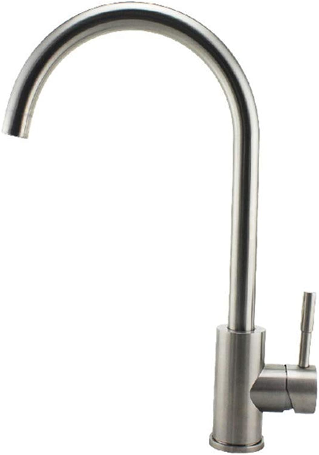 Oudan Kitchen Cold Kitchen Faucet Sus304 Stainless Steel Sink Faucet redatably (color   -, Size   -)