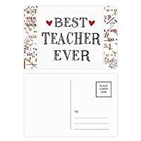 これまでに最高の先生の引用を尊重 公式ポストカードセットサンクスカード郵送側20個