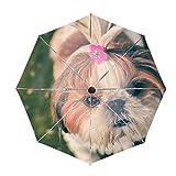 折り畳み傘 UVカット 晴雨兼用 折りたたみ傘 8本骨 耐風撥水 軽量 日傘Lovely Shih Tzu Dog