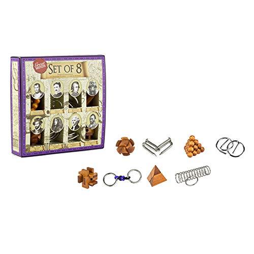 Professor puzzle Great Minds Lot de 8 Puzzles, GM1439 - Version Anglaise