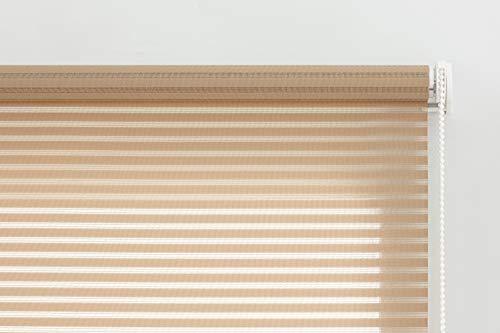 Estoralis Roma Estor Enrollable translucido Liso, Poliester, Beige, 130 x 190 cm