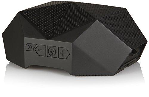 Bluetooth Speaker - Outdoor Tech Turtle Shell 3.0 - Black - Rugged Waterproof Speaker - Portable Hi-Fi Speaker - Shockproof - Dustproof Outdoor Speaker (Renewed)