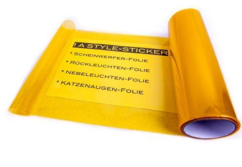 Scheinwerferfolie GELB 100cm x 30cm Gelbe NEBLER Folie NEW Folie Scheinwerfer yellow vinyl google