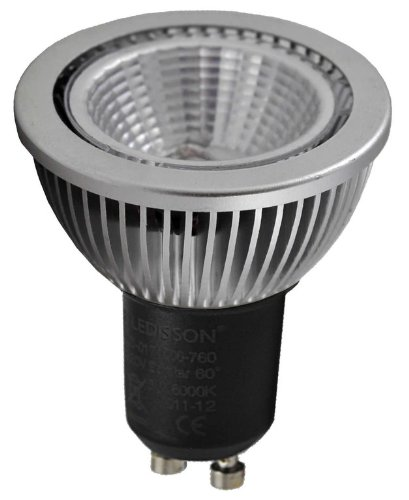 Ledisson LED-gloeilamp, dimbaar, 8 W, 60 W, 230 V. fitting GU10 en COB LED