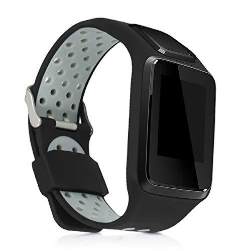 kwmobile Armband kompatibel mit Tomtom Adventurer/Runner 3/Spark 3/Golfer 2 Armband - Silikon Fitnesstracker Sportarmband Band
