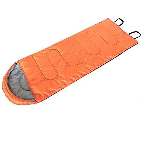 Sovpåse Bärbar lätt andningsbar och varm mjuk bomullsfyllning utomhusfilt Sovsäck för vuxna, barn, tonåringar, camping, vandring, sommarläger,Orange