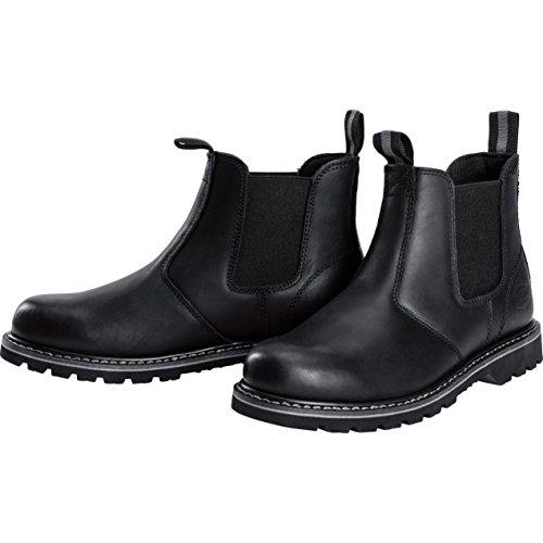 Spirit Motors Freizeitschuh Chelsea-Boots für Herren, Urban Lederschuh, Schlupfschuh, ölresistente, griffige Sohle, ergonomisch geformte Sohle, Rindsleder, strapazierfähige Gummizüge, schwarz, 44