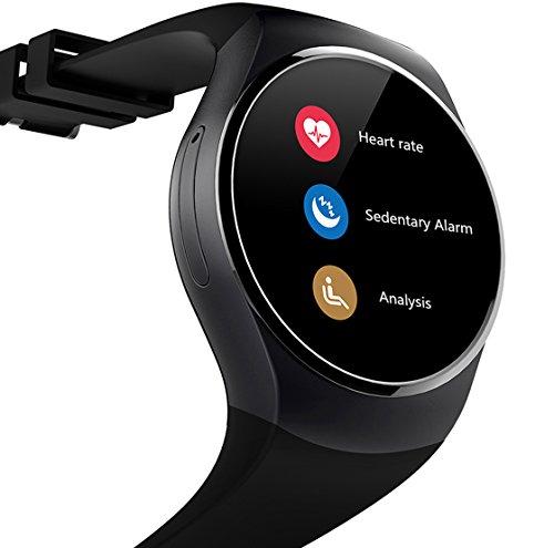 Cadeau de Pâques Easy Dernière Android Smartwatch HTYUFKY18 Bluetooth Multi-Languages Smart Bande Watch Smart watch avec Ecran Tactile Montre Intelligent Support Android Smartphones (Noir)