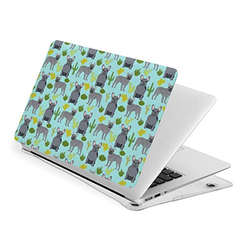 French Bulldog Grey Cactus MacBook New Air 13 inch Case (A1932 & A2179) Laptop Cover Hard Shell Protective Case