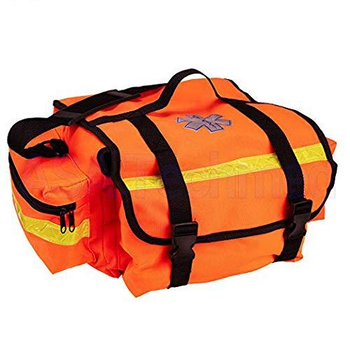 First Aid Responder EMS Emergency Medical Trauma Bag - Paramedics, Firefighters, Nurses, Home Health Aides (Orange)