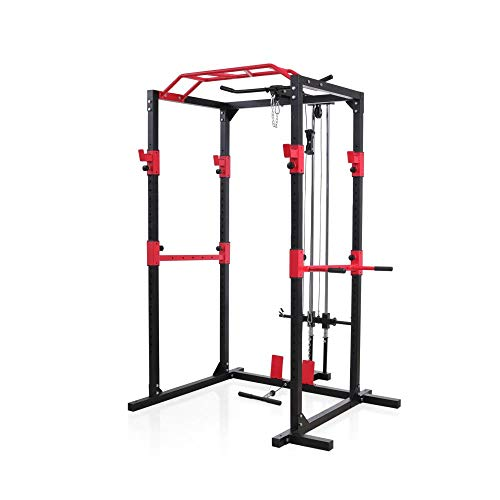 zoomyo Multifunktionales Power Rack schwarz/rot
