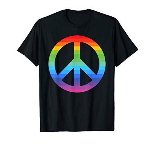 Flower Power Peace Hippie Love 60er 70er Jahre Kostüm Retro T-Shirt
