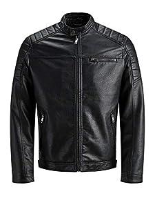 Jack & Jones Jcorocky Jacket Noos Chaqueta, Negro (Black Pattern: PU), Medium para Hombre