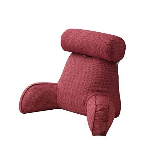 Lesekissen Rückenkissen, großes Bett Rückenlehne Kissen für Bett mit Armen und Seitentasche Keilkissen mit Polster Abnehmbare Armlehne TV-Kissen Buchkissen für Bett Sofa